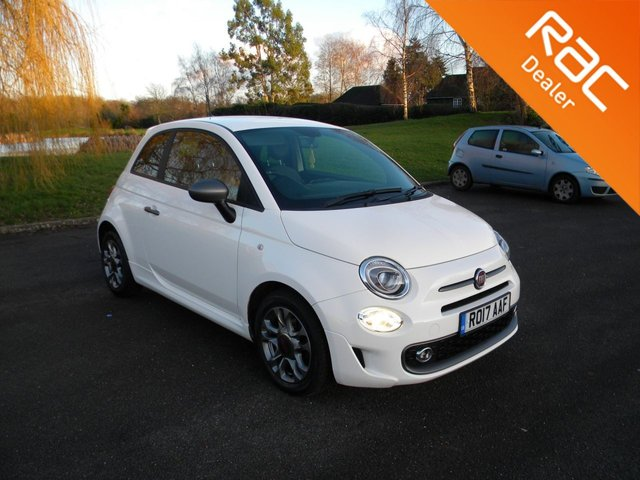 USED 2017 17 FIAT 500 1.2 S 3d 69 BHP Only £20 To Tax For The Year! Alloy Wheels, Rear Parking Sensors, Touchscreen Radio, AUX Input