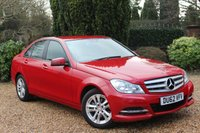 USED 2012 62 MERCEDES-BENZ C CLASS 1.6 C180 BLUEEFFICIENCY EXECUTIVE SE 4d 154 BHP ** IMMACULATE CONDITION MERCEDES SERVICED **
