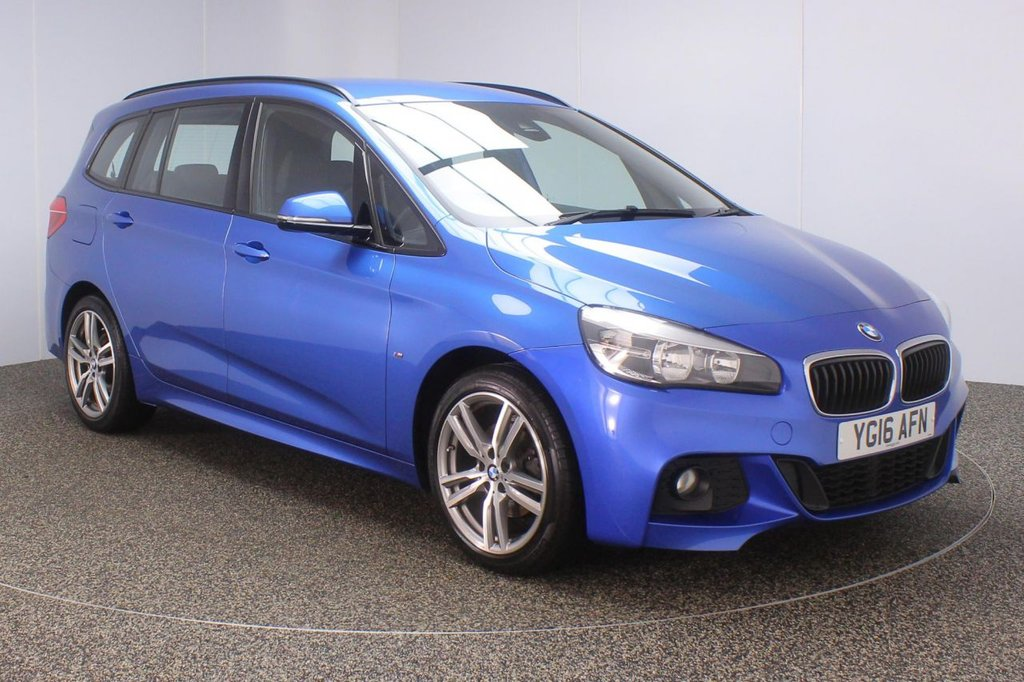 USED 2016 16 BMW 2 Series GRAN TOURER 1.5 216D M SPORT GRAN TOURER 5d 114 BHP SAT NAV 7 SEATS LEATHER FULL SERVICE HISTORY + £30 12 MONTHS ROAD TAX + LEATHER SEATS + 7 SEATS + SATELLITE NAVIGATION + PARKING SENSOR + BLUETOOTH + CLIMATE CONTROL + DAB RADIO + MULTI FUNCTION WHEEL + ELECTRIC WINDOWS + ELECTRIC MIRRORS + 18 INCH ALLOY WHEELS