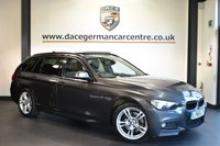 """USED 2016 65 BMW 3 SERIES 3.0 330D XDRIVE M SPORT TOURING 5DR AUTO 255 BHP Finished in a stunning mineral metallic grey styled with 18"""" alloys. Upon opening the drivers door you are presented with full leather interior, full service history, satellite navigation, bluetooth, heated sport seats, reversing camera,  panoramic sunroof, cruise control, DAB radio, Interior/outside mirror with auto dip, Automatic air conditioning, rain sensors, LED Fog lights, park assist, Light package, parking sensors"""