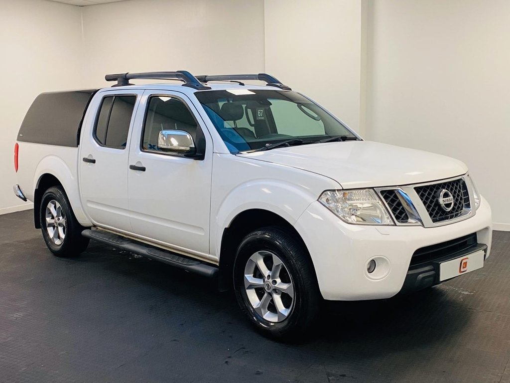 USED 2013 63 NISSAN NAVARA 2.5 DCI TEKNA 4X4 SHR DCB 188 BHP STUNNER IN WHITE + LEATHER + CANOPY + NO VAT + LOW MILES