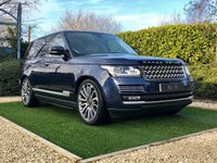 USED 2016 16 LAND ROVER RANGE ROVER 4.4 SDV8 AUTOBIOGRAPHY 5d 339 BHP HUGE SPEC IVORY HEATED /CHILLED ELEC MEMORY LEATHER SEATS  22 INCH STYLE 7 ALLOYS DEPLOYABLE SIDE STEPS ONE OWNER FULL LAND ROVER SERVICE HISTORY HEATED REAR SEATS