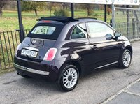 USED 2013 63 FIAT 500 1.2 C LOUNGE DUALOGIC 3d 69 BHP ELECTRIC CONVERTIBLE ROOF, BLUETOOTH AUX AND USB MEDIA CONNECTION, CD PLAYER, VOICE COMMAND  STEERING WHEEL FUNCTION, CITY STEERING MODE &  PARKING SENSORS,