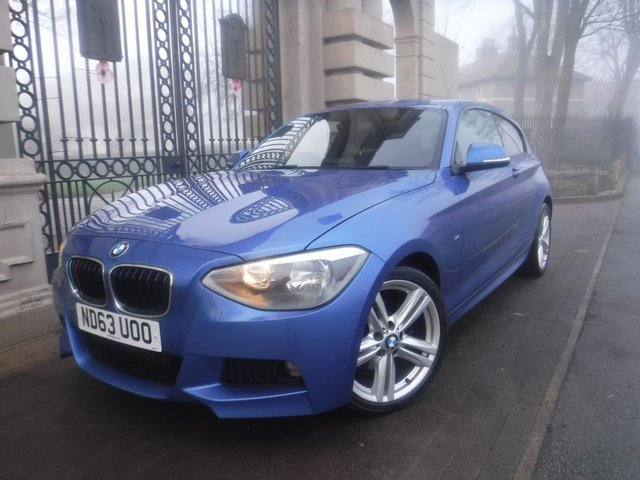 USED 2013 63 BMW 1 SERIES 2.0 120D M SPORT 3d 181 BHP £30 TAX*S/S*AUTO LIGHTS*USB*AC*SERVICE HISTORY*SEED LIMITER*AUX*CD