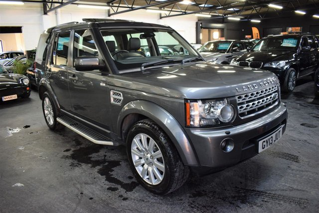 USED 2013 13 LAND ROVER DISCOVERY 4 3.0 4 SDV6 XS 5d 255 BHP LOVELY CONDITION THROUGHOUT - LANDROVER S/H + PRE DELIVERY - 1 OWNER - LEATHER - NAV - R/CAMERA - SUNROOFS - SIDE STEPS