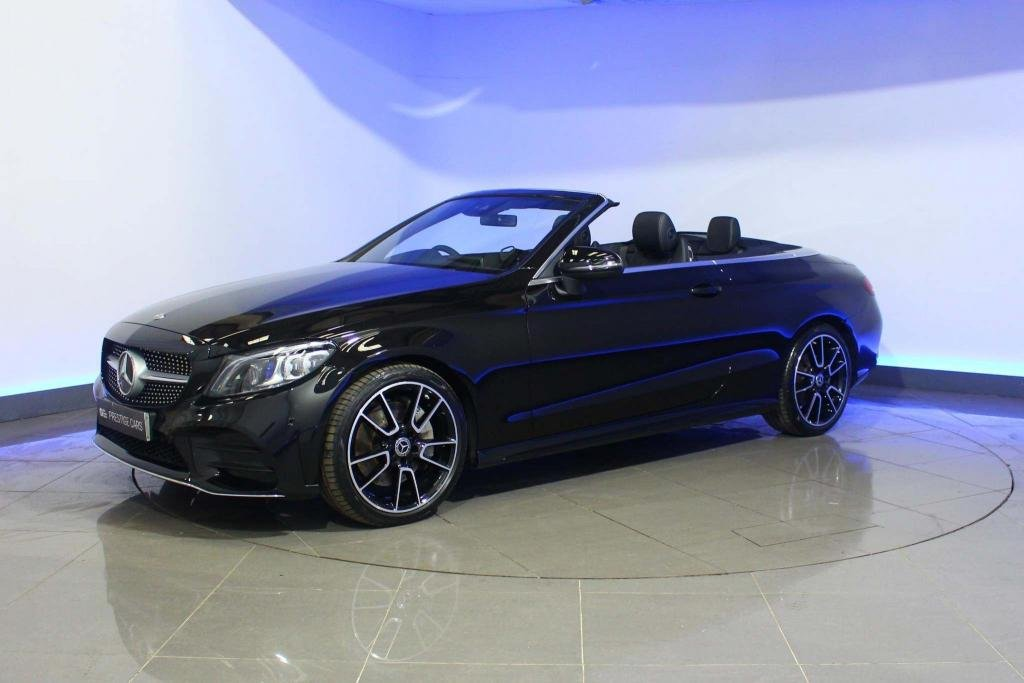 USED 2019 19 MERCEDES-BENZ C-CLASS 2.0 C300 AMG Line (Premium) Cabriolet G-Tronic+ (s/s) 2dr SAT NAV HEATED SEATS AIRSCARF