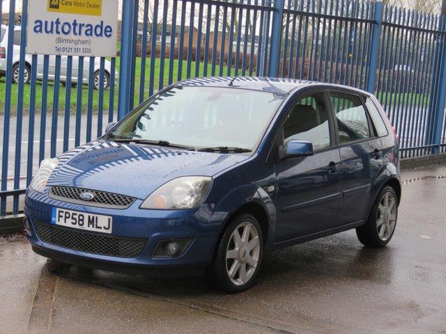 USED 2008 58 FORD FIESTA 1.2 ZETEC BLUE 5dr Air con Alloys ULEZ COMPLIANT Ideal 1st Car