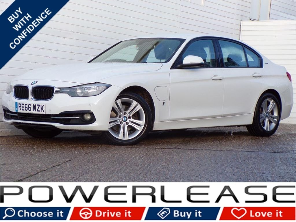 USED 2016 66 BMW 3 SERIES 2.0 330E SPORT 4d 181 BHP FREE TAX BLACK LEATHER 1 OWNER