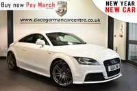 """USED 2011 11 AUDI TT 2.0 TDI QUATTRO S LINE BLACK EDITION 2DR 168 BHP Finished in a stunning white styled with 19"""" alloys. Upon opening the drivers door you are presented with half black leather interior, full service history, satellite navigation, bluetooth, heated sport seats, xenon lights, bose surround sound, multi functional steering wheel, air conditioning"""