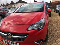 USED 2015 15 VAUXHALL CORSA 1.4 SRI ECOFLEX 5d 89 BHP IMMACULATE CONDITION THROUGHOUT: