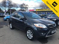2009 FORD KUGA 2.0 TITANIUM TDCI 2WD 5d 134 BHP IN METALLIC GREY WITH 112000 MILES, GREAT SERVICE HISTORY AND A GREAT SPEC INCLUDING SAT NAV. THIS IS BEING SOLD AS A TRADE CLEARANCE CAR  £3999.00