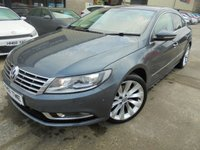 USED 2013 13 VOLKSWAGEN CC 2.0 GT TDI BLUEMOTION TECHNOLOGY DSG 4d 138 BHP Excellent Condition, FSH, Low Rate Finance Available, No Deposit, Only One Owner