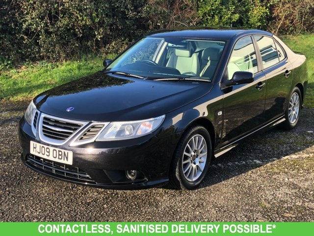 USED 2009 09 SAAB 9-3 1.9 LINEAR SE TID 4d 150 BHP 1 OWNER AIR CON VERY LOW MILEAGE FINANCE ME TODAY-UK DELIVERY POSSIBLE