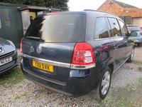 USED 2011 11 VAUXHALL ZAFIRA 1.6 EXCLUSIV 5d 113 BHP 7 SEVEN SEATER