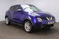 USED 2016 65 NISSAN JUKE 1.5 N-CONNECTA DCI 5DR 110 BHP FULL SERVICE HISTORY + £20 12 MONTHS ROAD TAX + SATELLITE NAVIGATION + REVERSE CAMERA + BLUETOOTH + CRUISE CONTROL + CLIMATE CONTROL + MULTI FUNCTION WHEEL + DAB RADIO + PRIVACY GLASS + ELECTRIC WINDOWS + ELECTRIC/HEATED DOOR MIRRORS + 17 INCH ALLOY WHEELS