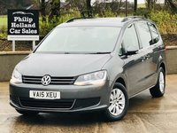 USED 2015 15 VOLKSWAGEN SHARAN 2.0 SE TDI DSG 5d 142 BHP Front / rear parking sensors