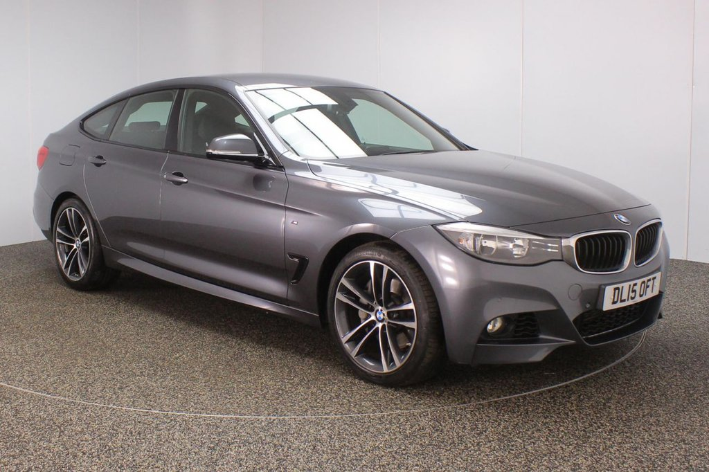 USED 2015 15 BMW 3 SERIES GRAN TURISMO 3.0 335D XDRIVE M SPORT GRAN TURISMO 5DR AUTO 1 OWNER 309 BHP SERVICE HISTORY + LEATHER SEATS + SATELLITE NAVIGATION + PARKING SENSOR + BLUETOOTH + CRUISE CONTROL + CLIMATE CONTROL + MULTI FUNCTION WHEEL + DAB RADIO + ELECTRIC WINDOWS + RADIO/CD/AUX/USB + ELECTRIC MIRRORS + 19 INCH ALLOY WHEELS