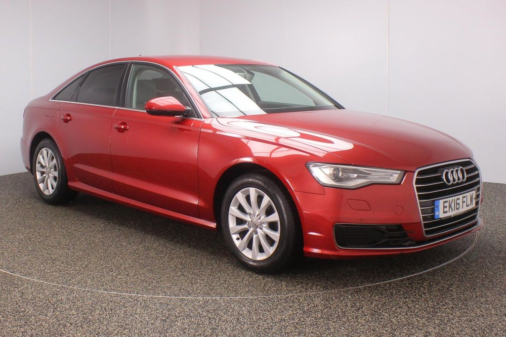 USED 2016 16 AUDI A6 2.0 TDI ULTRA SE 4DR AUTO 1 OWNER 188 BHP FULL SERVICE HISTORY + £20 12 MONTHS ROAD TAX + HEATED HALF LEATHER SEATS + SATELLITE NAVIGATION + PARKING SENSOR + BLUETOOTH + CRUISE CONTROL + CLIMATE CONTROL + MULTI FUNCTION WHEEL + XENON HEADLIGHTS + DAB RADIO + PRIVACY GLASS + XENON HEADLIGHTS + ELECTRIC WINDOWS + ELECTRIC MIRRORS + 17 INCH ALLOY WHEELS