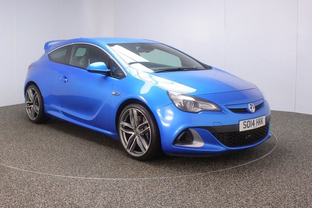 USED 2014 14 VAUXHALL ASTRA GTC 2.0 VXR 3DR 276 BHP SERVICE HISTORY + LEATHER SPORT SEATS + BLUETOOTH + CRUISE CONTROL + MULTI FUNCTION WHEEL + DAB RADIO + AIR CONDITIONING + RADIO/CD/AUX/USB + XENON HEADLIGHTS + PRIVACY GLASS + ELECTRIC WINDOWS + ELECTRIC MIRRORS + 20 INCH ALLOY WHEELS