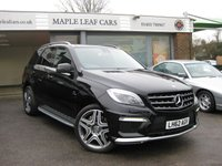 USED 2013 62 MERCEDES-BENZ M CLASS 5.5 ML63 AMG 5d 525 BHP One owner. Pan Glass roof. Entertainment Pack. Ventilated seats. Rear heated seats. 21'' AMG Alloy wheels. Active park assist.