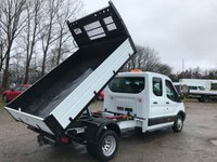USED 2018 18 FORD TRANSIT 350 130PS L3 H2 FACTORY DOUBLE CAB TIPPER **VERY LOW MILES**