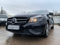 USED 2014 14 MERCEDES-BENZ A CLASS 1.5 A180 CDI BLUEEFFICIENCY SPORT 5d 109 BHP 2KEYS+HALFLEATHER+17ALLOYS+AIRCON+CLIMATE+20ROADTAX+MEDIA+USB+
