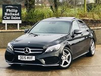 USED 2015 15 MERCEDES-BENZ C CLASS 2.1 C220 BLUETEC AMG LINE PREMIUM PLUS 4d 170 BHP Panoramic sliding roof