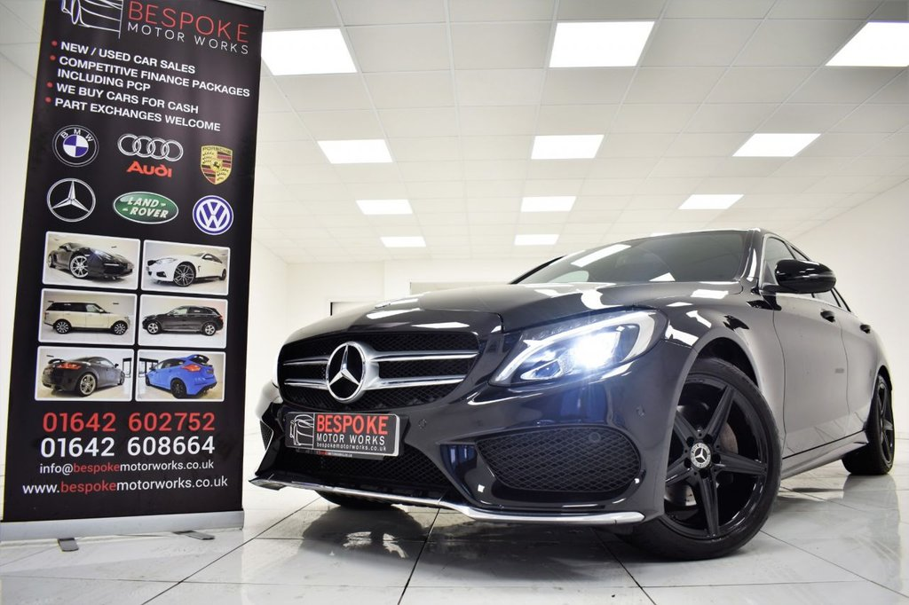 USED 2018 67 MERCEDES-BENZ C CLASS C220D AMG LINE