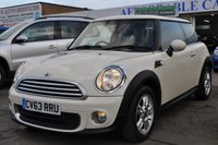 2013 MINI HATCH ONE 1.6 ONE 3d 98 BHP £5995.00