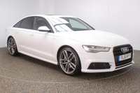 USED 2016 16 AUDI A6 3.0 TDI BLACK EDITION 4DR AUTO 215 BHP + SAT NAV + 1 OWNER + FULL LEATHER FULL AUDI SERVICE HISTORY + £30 12 MONTHS ROAD TAX + HEATED LEATHER SEATS + SATELLITE NAVIGATION + TOP VIEW CAMERA + ELECTRIC SUNROOF + PARKING SENSOR + PARK ASSIST + BLUETOOTH + CRUISE CONTROL + CLIMATE CONTROL + MULTI FUNCTION WHEEL + ELECTRIC/MEMORY SEATS + PRIVACY GLASS + ELECTRIC WINDOWS + ELECTRIC/HEATED/FOLDING MIRRORS + 20 INCH ALLOY WHEELS