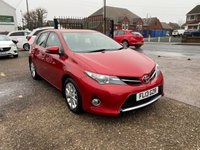 USED 2013 13 TOYOTA AURIS 1.6 ICON VALVEMATIC  5d 130 BHP AUTOMATIC-EXCELLENT HISTORY-LOW MILEAGE-BLUETOOTH-ALLOY WHEELS