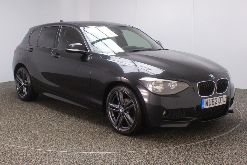 USED 2012 62 BMW 1 SERIES 1.6 116I M SPORT 5DR 135 BHP FULL SERVICE HISTORY + PARKING SENSOR + BLUETOOTH + CLIMATE CONTROL + MULTI FUNCTION WHEEL + PRIVACY GLASS + RADIO/CD/AUX/USB + ELECTRIC WINDOWS + ELECTRIC MIRRORS + 18 INCH ALLOY WHEELS