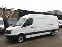 USED 2016 66 VOLKSWAGEN CRAFTER 2.0TDI CR35 LWB HIGH ROOF STARTLINE 136BHP EURO 6. LOW 81K. 1 OWNER. EURO 6 ULEZ. LOW 81K. FINANCE. PX WELCOME.