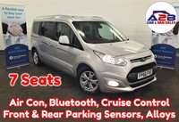 USED 2016 66 FORD GRAND TOURNEO CONNECT  1.5 TDCI TITANIUM 120 BHP Euro 6 in Silver with One Owner from New, 7 Seats, Air Conditioning, Panoramic Glass Roof, Bluetooth, Cruise Control, Front & Rear Parking Sensors, Heated Windscreen, and more ** Drive Away Today** Over The Phone Low Rate Finance Available, Just Call us on 01709 866668 **