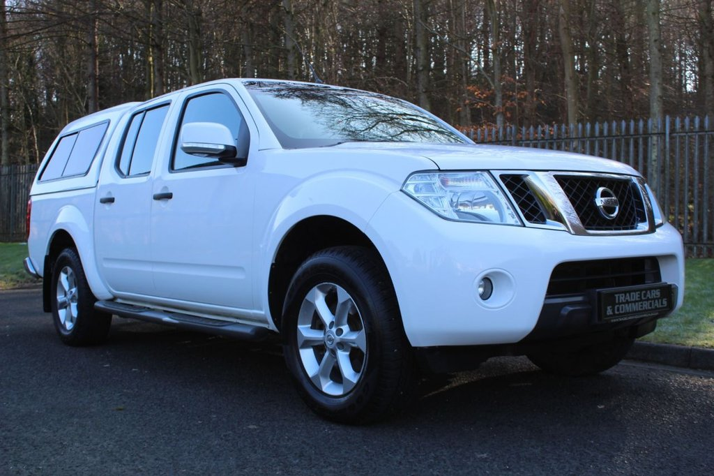 USED 2015 15 NISSAN NAVARA Double Cab Pick Up Acenta 2.5dCi 190 4WD A LOW OWNER NAVARA WITH NO VAT TO BE ADDED AND WITH A REAR CANOPY!!!