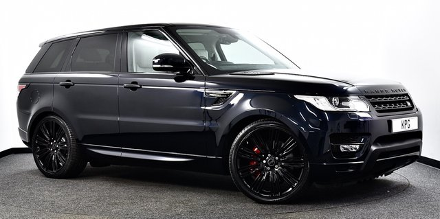 """USED 2016 66 LAND ROVER RANGE ROVER SPORT 3.0 SD V6 HSE CommandShift 2 4X4 (s/s) 5dr Pan Roof, Black Pack, 22""""s ++"""