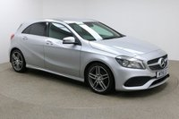 USED 2016 16 MERCEDES-BENZ A CLASS 1.6 A 180 AMG LINE EXECUTIVE 5d 121 BHP Finished in stunning metallic Polar Silver + 18 inch diamond cut alloys + black half leather / suede interior + Sat nav + Bluetooth + In car entertainment - CD / USB / SD + Rear reversing camera + Privacy glass + Start / Stop + Air con + Dual climate control + Multi function steering wheel + Electric mirrors + Electric windows + Front / Rear parking sensors + Auto lights + Heated front seats + Full Mercedes service history + Free road tax + ULEZ EXEMPT.