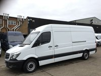 USED 2016 16 MERCEDES-BENZ SPRINTER 2.1 313CDI LWB HIGH ROOF 130BHP. F/S/H. 1 OWNER. FINANCE. 1 OWNER. LOW FINANCE. F/S/H. CHOICE OF 50 SPRINTERS.