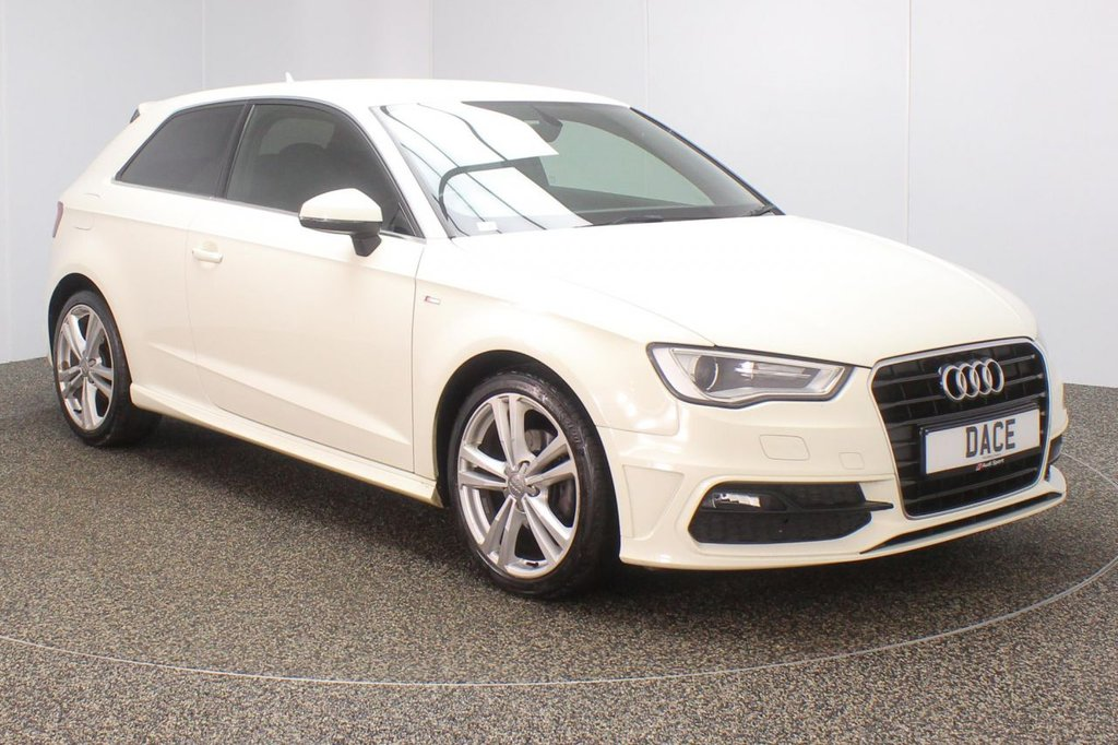 USED 2013 63 AUDI A3 1.2 TFSI S LINE 3DR 104 BHP superb service history  SERVICE HISTORY + £30 12 MONTHS ROAD TAX + HALF LEATHER SEATS + BLUETOOTH + CLIMATE CONTROL + MULTI FUNCTION WHEEL + DAB RADIO + PRIVACY GLASS + XENON HEADLIGHTS + RADIO/CD/USB/SD + ELECTRIC WINDOWS + ELECTRIC/HEATED DOOR MIRRORS + 18 INCH ALLOY WHEELS