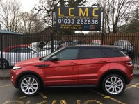 USED 2014 64 LAND ROVER RANGE ROVER EVOQUE 2.2 SD4 DYNAMIC 5d 190 BHP STUNNING FIRENZY RED, BLACK ROOF MIRRORS, OXFORD PERFORATED RED/BLACK LEATHER, 19 INCH ALLOYS, REVERSE CAMERA, SAT NAV, HEATED MEMORY SEATS, PANORAMIC ROOF, PARKING SENSORS, MASSIVE SPEC, LOW MILES