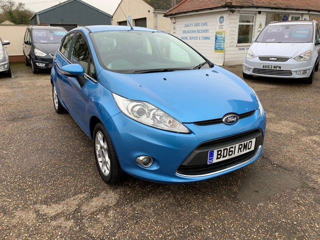 USED 2011 61 FORD FIESTA 1.2 ZETEC 5d 81 BHP WARRANTED LOW MILEAGE