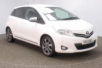 USED 2013 13 TOYOTA YARIS 1.3 VVT-I TREND 5DR SAT NAV REAR CAM 98 BHP FULL SERVICE HISTORY + SATELLITE NAVIGATION + REVERSE CAMERA + BLUETOOTH + CLIMATE CONTROL + MULTI FUNCTION WHEEL + PRIVACY GLASS + ELECTRIC WINDOWS + ELECTRIC MIRRORS + 16 INCH ALLOY WHEELS