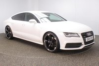 USED 2014 11 AUDI A7 3.0 TDI QUATTRO BLACK EDITION 5DR 245 BHP + SAT NAV + LEATHER FULL SERVICE HISTORY + HEATED LEATHER SEATS + SATELLITE NAVIGATION + BOSE PREMIUM SPEAKERS + PARKING SENSOR + BLUETOOTH + CRUISE CONTROL + CLIMATE CONTROL + MULTI FUNCTION WHEEL + ELECTRIC/MEMORY FRONT SEATS + XENON HEADLIGHTS + PRIVACY GLASS + DAB RADIO + ELECTRIC WINDOWS + ELECTRIC MIRRORS + 21 INCH ALLOY WHEELS
