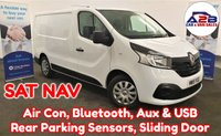2015 RENAULT TRAFIC 1.6 BUSINESS PLUS DCI S/R P/V 115 BHP in White with One Owner from New, SATNAV, Air Conditioning, Bluetooth, Rear Parking Sensors, Aux & USB and more £8480.00