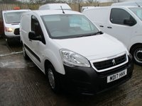 USED 2017 17 PEUGEOT PARTNER 1.6 BLUE HDI PRO 3 seats in front  L1 100 BHP Turbo Diesel White 2017 17 peugeot partner pro 1.6 hdi peugeot warranty applies until