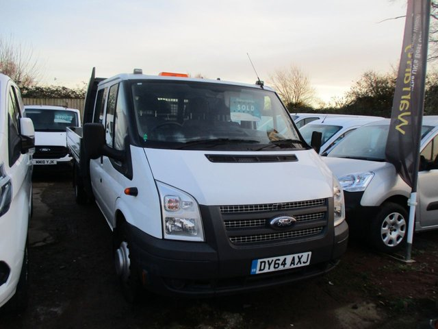 2014 64 FORD TRANSIT 2.2 350 DRW 125 BHP double cab dropside turbo diesel