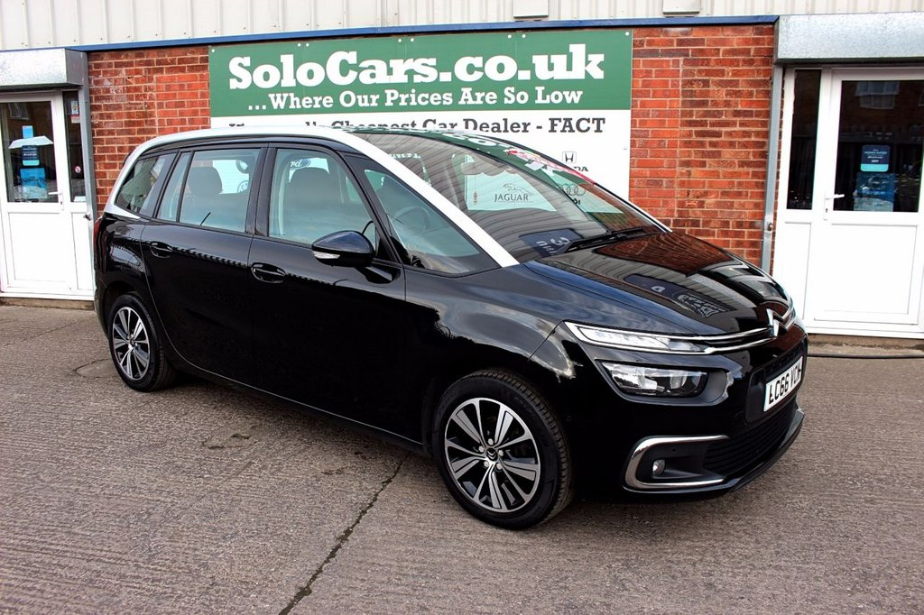 USED 2016 66 CITROEN C4 GRAND PICASSO 1.6 BLUEHDI FEEL S/S 5d 118 BHP +ONE OWNER +7 SEATS +SAT NAV.