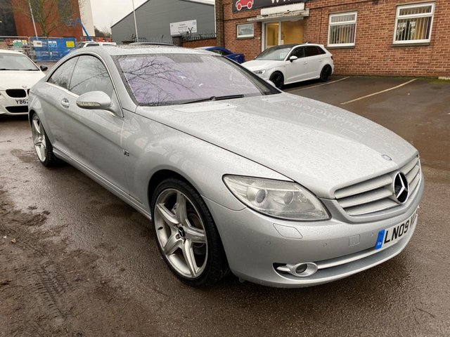 USED 2009 09 MERCEDES-BENZ CL 5.5 CL 500 2d 383 BHP SERVICE HISTORY, ALLOY WHEELS, PARK SENSORS, SUNROOF, HEATED LEATHER SEATS, RADIO/CD, CRUISE CONTROL, CLIMATE CONTROL, SATELLITE NAVIGATION