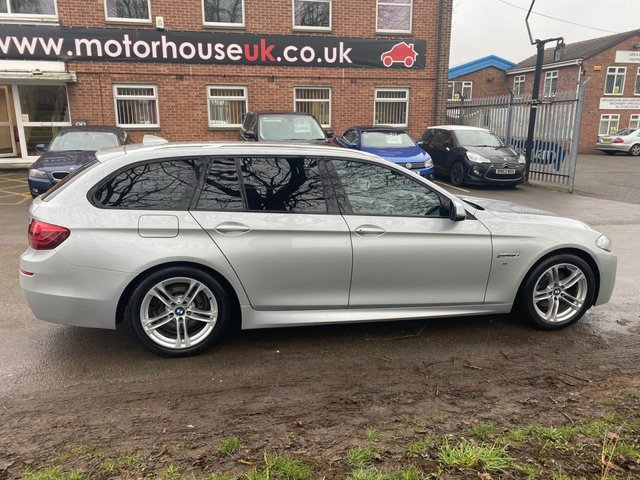 USED 2013 63 BMW 5 SERIES 2.0 520D M SPORT TOURING 5d 181 BHP ESTATE ALLOY WHEELS, HEATED LEATHER SEATS, RADIO/CD, CRUISE CONTROL, CLIMATE CONTROL, SATELLITE NAVIGATION