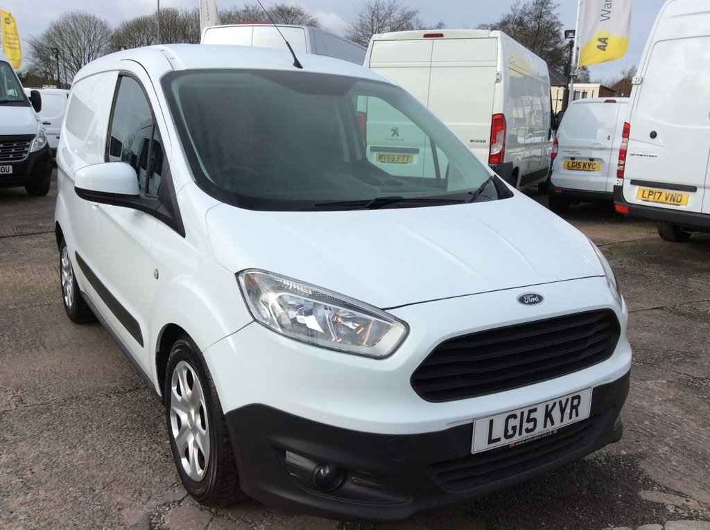 USED 2015 15 FORD TRANSIT COURIER SWB 1.5 TREND TDCI 74 BHP AIR CON 1 OWNER FSH NEW MOT FREE 6 MONTHS AA WARRANTY INCLUDING RECOVERY AND ASSIST NEW MOT AIR CONDITIONING SPARE KEY REAR PARKING SENSORS ELECTRIC WINDOWS AND MIRRORS BLUETOOTH